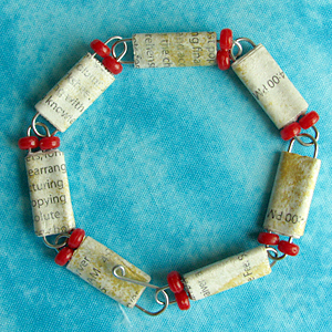 How to Make a Paper Bead and Paper Clip Bracelet