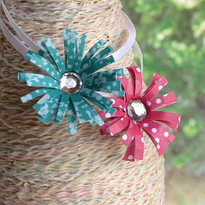 Paper Bead Flowers from I Love Paper Beads