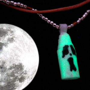 Glow in the Dark Ghost Paper Bead