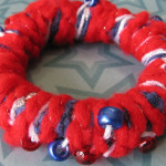 Photo of yarn and tshirt bracelet