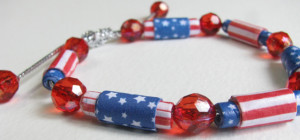 4th of July Paper Beads