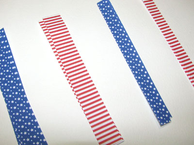 Cut Stars and Stripes Paper