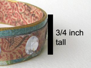 Decide of the height of the bracelet