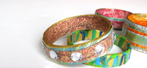 Bangle Bracelets made from Paper
